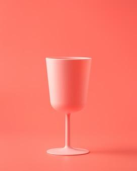 Il vetro rosa 3d rende