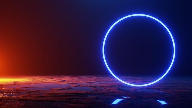 Il viaggio nello spazio, concetto dell'universo, 3d rende