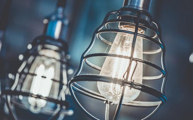 Illuminazione a gabbia per soffitto vintage