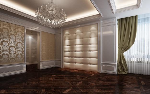 Illustrazione 3d bella camera calda e luminosa