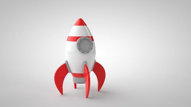 Illustrazione 3d della nave del razzo