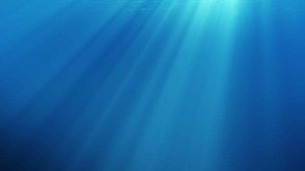 Illustrazione 3d della scena subacquea con luce solare