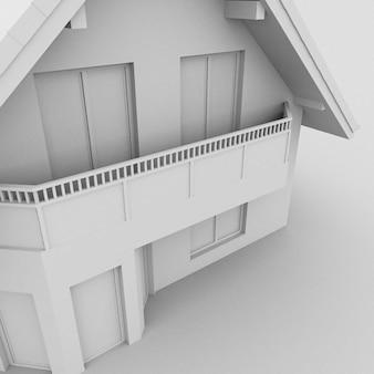 Illustrazione 3d di una casa