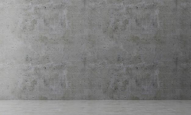 Illustrazione 3d padiglione vuoto, visualizzazione interna.