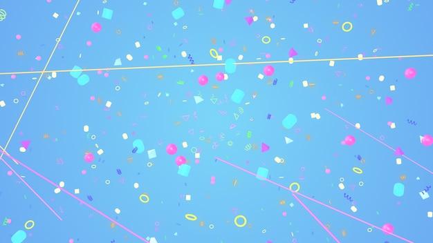 Illustrazione 3d sfondo per pubblicità e carta da parati in scena gatsby e art deco. rendering 3d nel concetto decorativo
