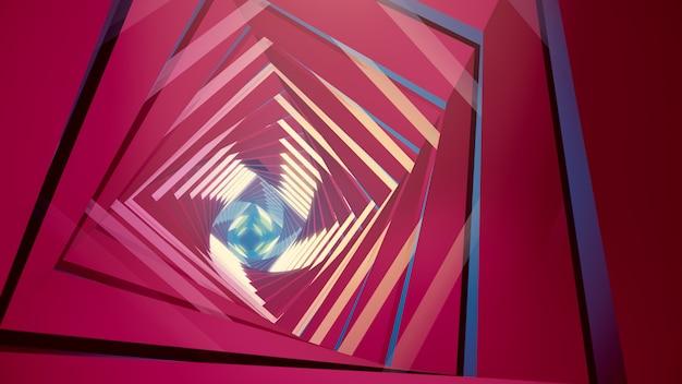 Illustrazione 3d sfondo per pubblicità e carta da parati in scena gatsby e art deco.