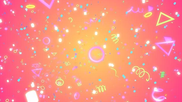 Illustrazione 3d sfondo per pubblicità e carta da parati in scena gatsby e art deco