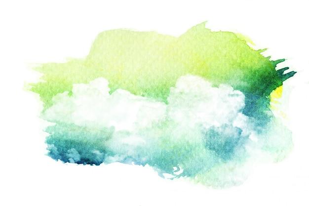 Illustrazione ad acquerello di nuvola.