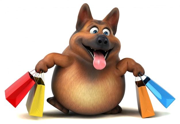 Illustrazione del cane da pastore tedesco 3d