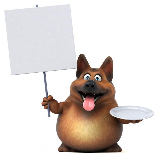 Illustrazione del cane da pastore tedesco di divertimento 3d