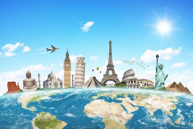 Illustrazione del famoso monumento del mondo