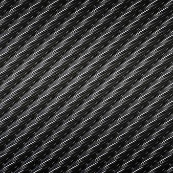 Illustrazione del fondo del cavo del cavo metallico d'acciaio