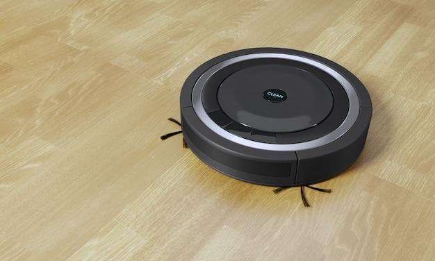Illustrazione del robot 3d dell'aspirapolvere