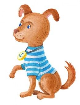 Illustrazione dell'acquerello cane da marinaio
