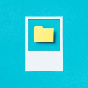 Illustrazione dell'icona della cartella documenti di archivio