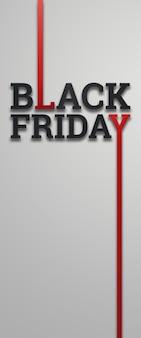 Illustrazione dell'iscrizione di vendita di black friday