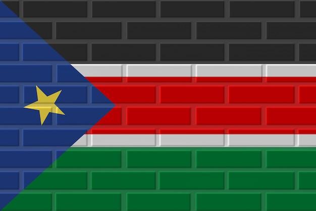 Illustrazione della bandiera del mattone del sudan del sud