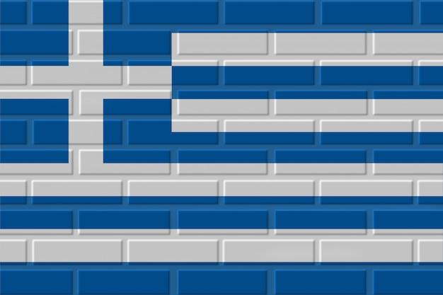 Illustrazione della bandiera del mattone della grecia