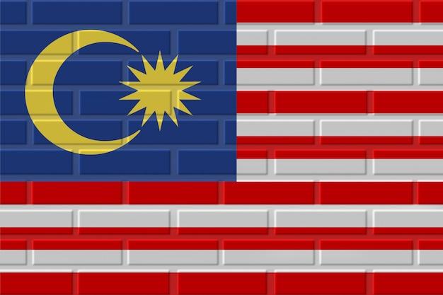 Illustrazione della bandiera del mattone della malesia