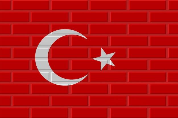 Illustrazione della bandiera del mattone della turchia