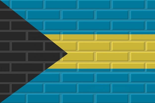 Illustrazione della bandiera del mattone delle bahamas