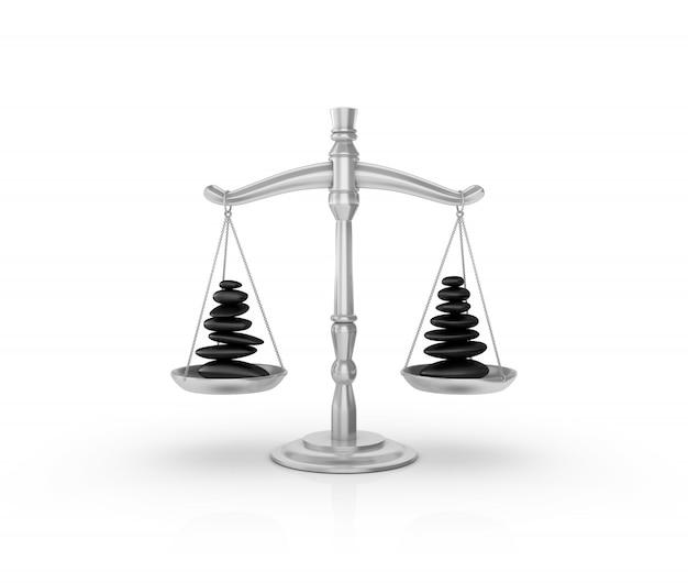 Illustrazione della rappresentazione della bilancia