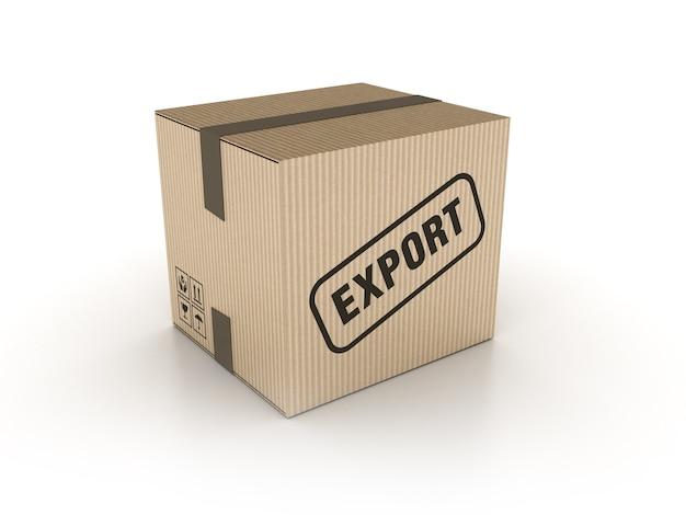 Illustrazione della rappresentazione della scatola di cartone