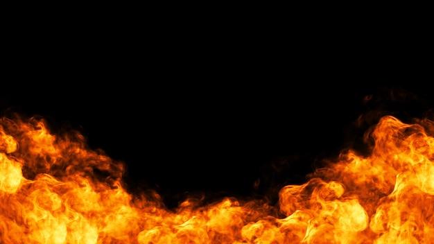 Illustrazione di cornice 3d di fuoco