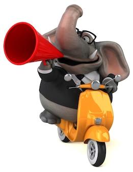Illustrazione di elefante divertente