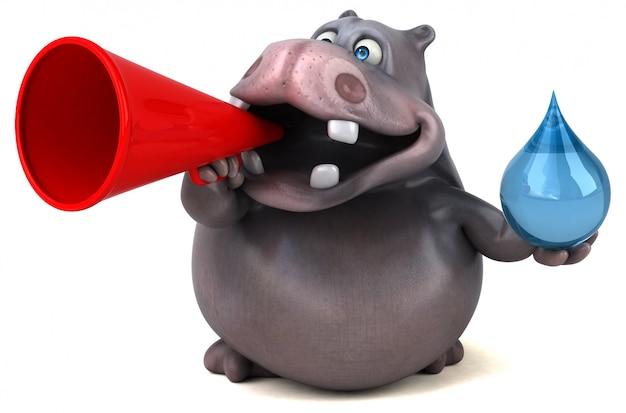 Illustrazione di ippopotamo divertente
