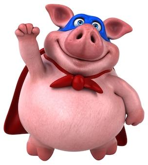 Illustrazione di maiale divertente