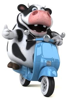 Illustrazione di mucca divertente