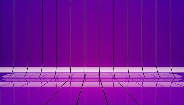 Illustrazione di nastri viola. fase di sfondo come modello per la tua vetrina.