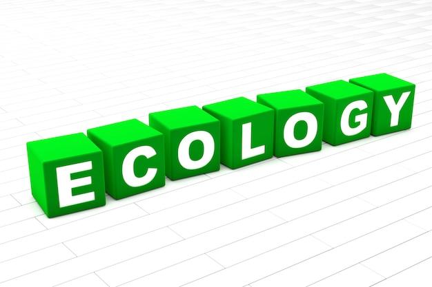 Illustrazione di parola di ecologia