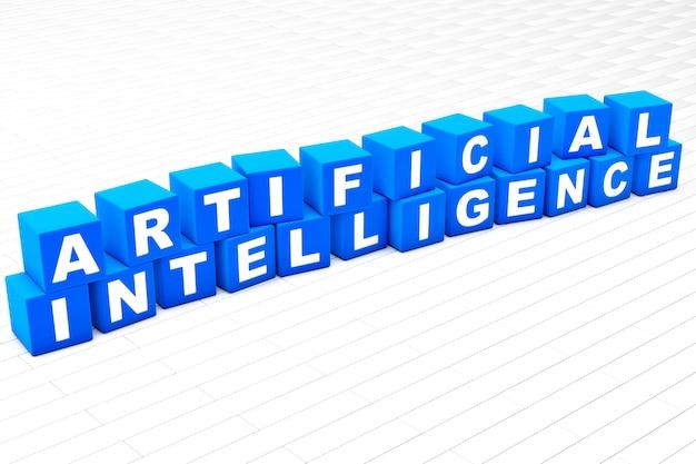 Illustrazione di parola di intelligenza artificiale