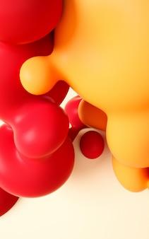 Illustrazione di rendering 3d. arte liquida liscia astratta.