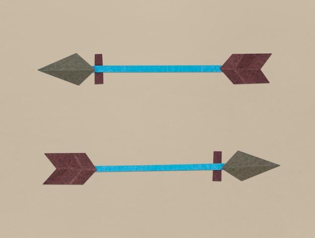 Illustrazione di simbolo dell'icona di tiro con l'arco di arco