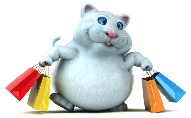 Illustrazione divertente del gatto 3d