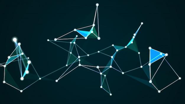 Illustrazione futuristica astratta di concetto della connessione di rete di computer del computer