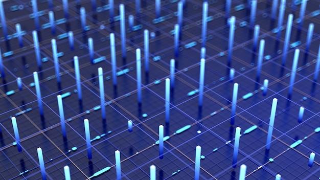 Illustrazione futuristica del fondo 3d di tecnologia