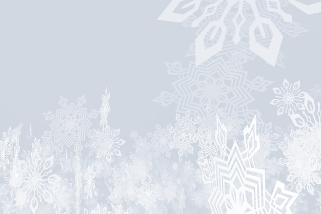 Illustrazione sul tema dell'illustrazione nevicata 3d del nuovo anno