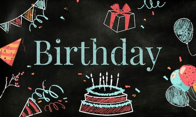 Illustrazione torta di compleanno