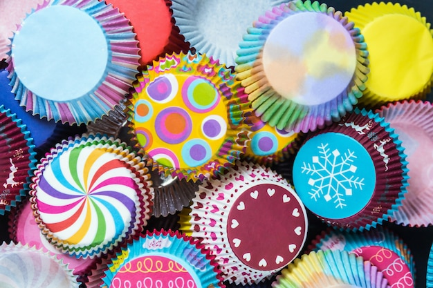 Imballaggi di carta colorati cupcakes