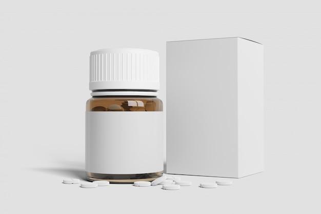 Imballaggio farmaceutico - rappresentazione 3d