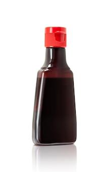 Imbottigliamento in bottiglia di salsa di soia, condimento alimentare giapponese