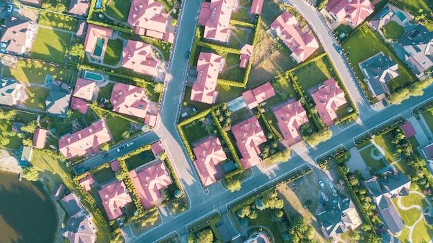 Immagine aerea di riserva di un quartiere residenziale
