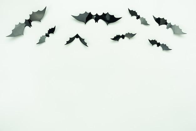 Immagine aerea di vista superiore del tavolo della decorazione concetto felice del fondo di giorno di halloween.
