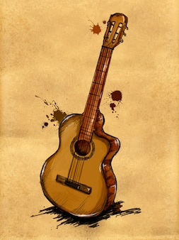 Immagine della pittura della chitarra