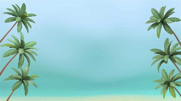 Immagine della rappresentazione 3d dell'insegna di estate, cocchi