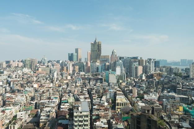 Immagine di macau (macao), cina. grattacielo hotel e casinò edificio in centro a macao (macao).